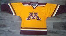 Easton Minnesota Golden Gophers NCAA Hockey Jersey Mens Size Medium WCHA Goldy