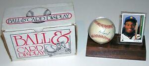 Ken Griffey Jr. Autographed Baseball w/ 1989 Upper Deck Rookie ~ EXCELLENT