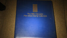 1980 WINTER OLYMPICS MINT SHEET STAMP COLLECTION SET BINDER