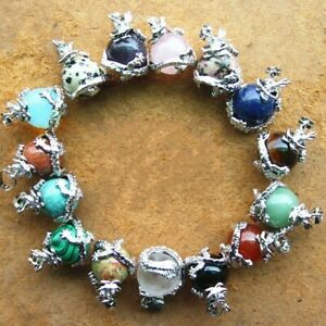 Fashion Women Natural Gemstone Crystal Agate Handmade Inlaid Jewelry Pendant
