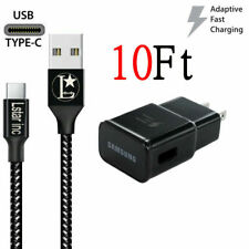 For Original Samsung Galaxy Note8 S8 S9 Plus Fast Wall Adaptive10Ft Type C Cable
