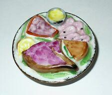 LIMOGES BOX ~ FOOD ON A PLATE ~ SHRIMP & HAM ~ SUNDAY BUFFET BRUNCH ~ PEINT MAIN
