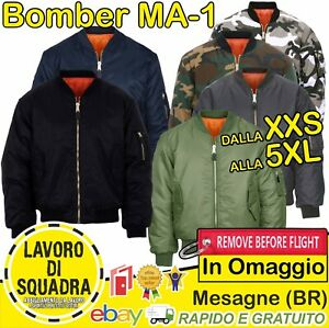 Bomber MA-1 Militare Originale Fostex Flight Jacket Giubbotto MA-I Giubbino Idea