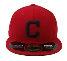 Cleveland Indians Red New Era 59FIFTY fitted/hat cap MLB C size 75/8 Made in USA