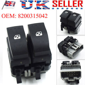 Driver Side Electric Window Switch Button Black For Renault Megane Scenic MK II