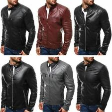 Faux Leather Biker Jackets for Men