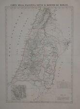 CARTA DELLA PALESTINA SOTTO IL DOMINIO DE' ROMANI CARTOGRAFIA MARZOLLA 1846