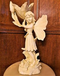 Cute YOUNG GIRL FIGURINE NYMPH ANGEL Statue Ornament Decorative Figure Gift