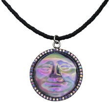 KIRKS FOLLY SEAVIEW WATER MOON 35MM CORD NECKLACE - silvertone / violet