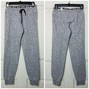 Justice Sweatpants Girls Logo Waistband Full Length Grey Black Size 10