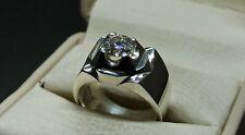 Certified 1 Carat Moissanite Diamond Sterling Silver 925 Handmade Women Ring