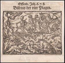 Offenbarung Johannes memento mori Bildnis  Plagen 16.Jh. Holzschnitt revelation