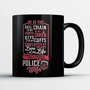 Proud Police Wife Funny Gift Coffee Mug