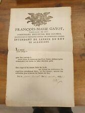 GERRE DE SEPT ANS LAISSEZ PASSER ARMEE DU ROI EN ALLEMAGNE 1759