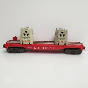 Rare Vintage Lionel Trains 6805 Atomic Energy Disposal Car Red Flat USA