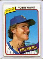 Robin Yount 1980 Topps Baseball #265 Milwaukee Brewers HOF VG/EX