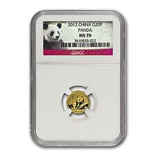 2012 China 1/20 oz Gold Panda MS-70 NGC - SKU #67376