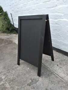 Black Wooden A Board - Chalkboard - Blackboard - Pavement Sign - 70 x 40cm