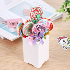 2X Cute Candy Style Lollipop Ballpoint Pen for School Stationery Office Supplies
