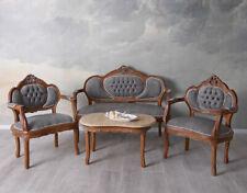 Sitzgarnitur Barockmöbel Barocksofa Sessel Sitzgruppe Antik 4tlg Couchtisch