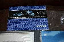 1998 Volvo S90 & V90 Owners Manual, On Call, Warranty & Service, Grey Suede Case