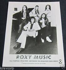 ROXY MUSIC—1970s PUBLICITY PHOTO