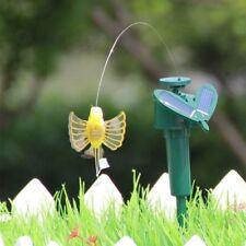 Cute Solar Power Vibration Dancing Fly Fluttering Hummingbird Birds Yard Decor