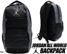 Nike Air Jordan Retro All World Black Cement Elephant Print Backpack Bag NWT