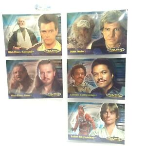 Star Wars Evolution 2001 Topps Foil Chase Collectable Trading Card Set 4A - 7A