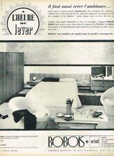 A- Publicité Advertising 1963 Meubles Mobilier Bobois chambre à coucher