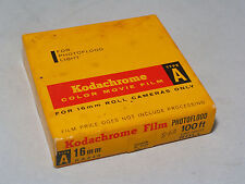 kodachrome 16mm movie film type A. 100' Roll. Vintage from 1962. New-Unopned.