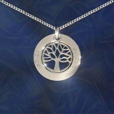 ♥-♥- Anhänger mit Lebensbaum mit Gravur, Silber 925, Namenskette, Initiale -♥-♥