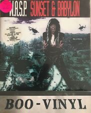 """W.A.S.P. - """"SUNSET & BABYLONE"""" UK 7"""" SINGLE RARE POSTER manches CL 698-Nr Comme neuf"""
