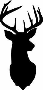 Window Wall Vehicle Display Christmas Stag Deer Head Decal Vinyl Sticker