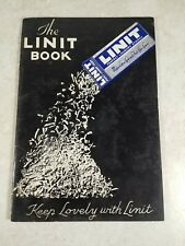 1938 THE LINIT BOOK Corn Products Refining Co New York NY Perfect Laundry Starch