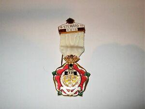 Royal Masonic Institution for Girls Steward Jewel 1972