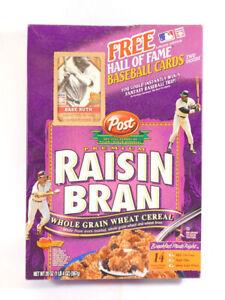 2001 Post Raisin Bran Empty Cereal Box Babe Ruth 500 Home Run Club Card