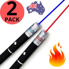🔥 PREMIUM LASER POINTER Blue Red 1mW LAZER Beam HIGH Power Pen Cat Toy AUS 100%