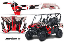 UTV Graphics Kit Decal Wrap For Kawasaki Teryx 800 4 Door 2012-2015 CARBONX RED