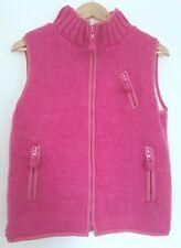 Pachamama Gillet Bodywarmer Pink Wool Sleeveless Jacket Cardigan Small UK 10 12