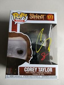 COREY TAYLOR Signed SLIPKNOT Funko Pop Stone Sour 177 CMFT Autograph JSA COA
