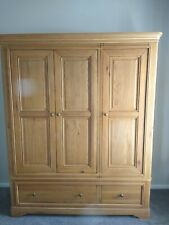 More details for leekes french oak 3 door wardrobe with 2 drawers. used. in pristine condition.
