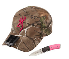 New WOMENS Browning Camo Hat Night Seeker Light Knife Gift Set Pink hunting