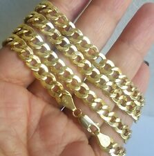 10k yellow gold semi hallow cuban chain 24 inches long 6 mm wide