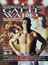 Original Arturo Gatti vs Micky Ward III Boxing Fight Poster On Site Fight Poster