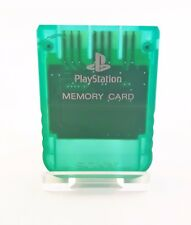 PS1 scheda memoria ORIGINALE / 1mb / SONY PLAYSTATION 1 Memory Card Verde