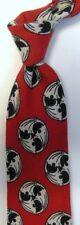 "Red Black White Abstract Wool Tie 3.9"" Wide 56"" Long"