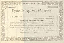 Louisville Railway Company > 18__ Kentucky railroad trolley stock certificate