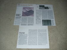 Bang & Olufsen Beocord 9000 Cassette Review, 3 pgs,1982