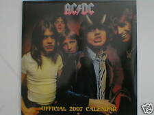 More details for ac/dc the official calendar 2007 still sealed collectors item new angus young